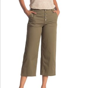 J. Crew Wide Leg Button Fly Cropped Pants